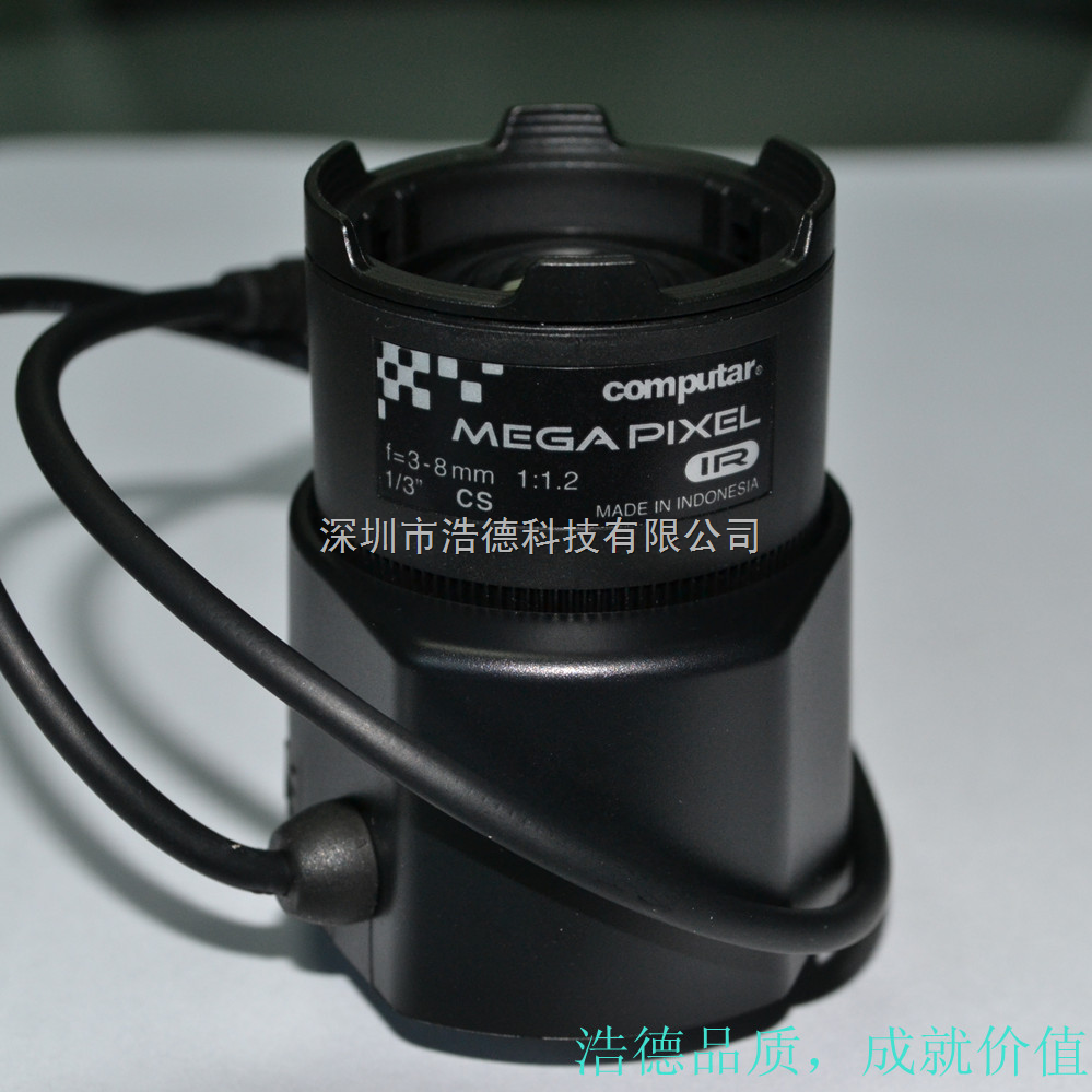 computar镜头,300万像素,1/3,3-8mm
